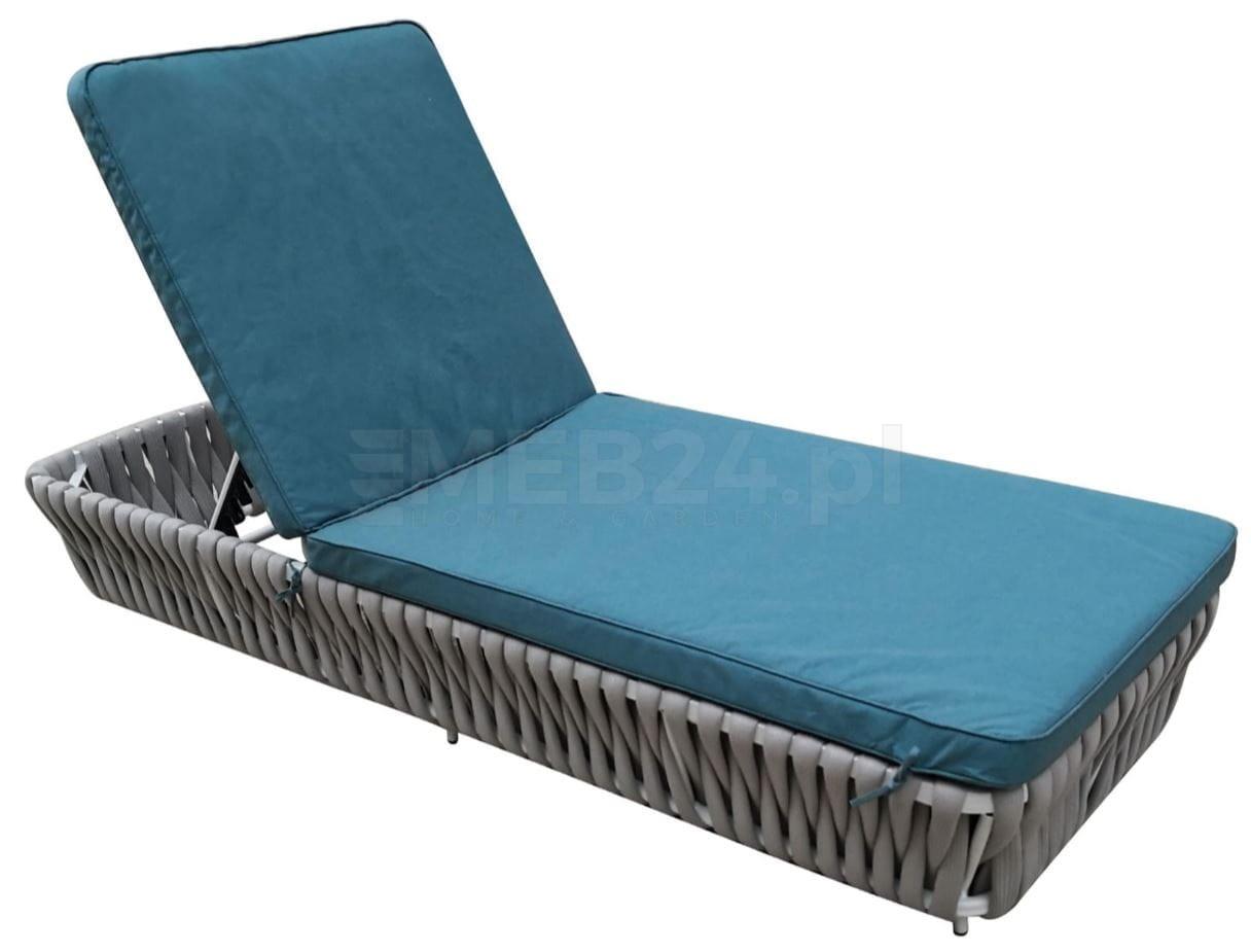 łóżko Ogrodowe Koral Z Plecionym Sznurem Szary