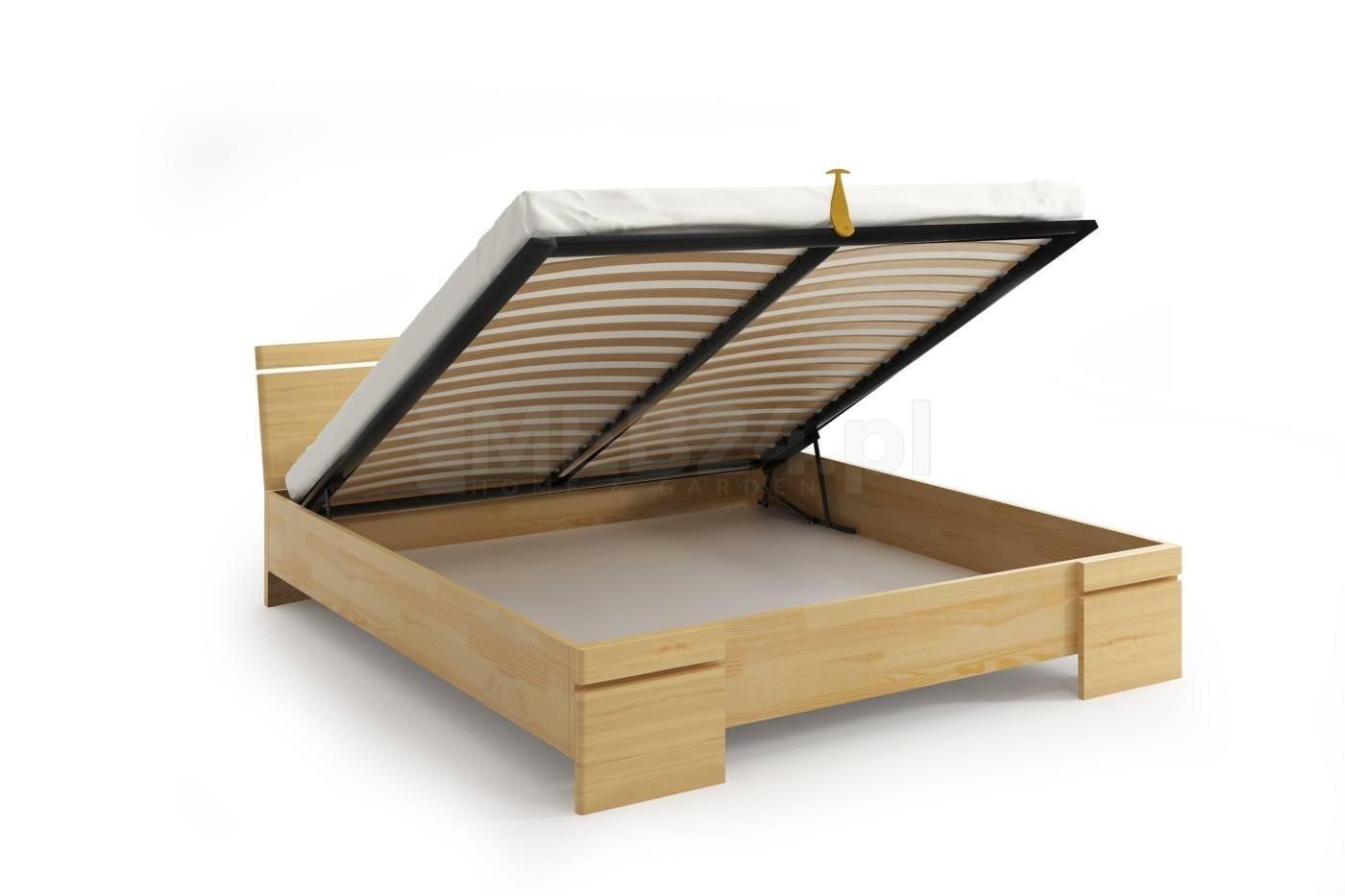 łóżko Drewniane Sosnowe Ze Skrzynią Na Pościel Sparta Maxi St 120 200x200