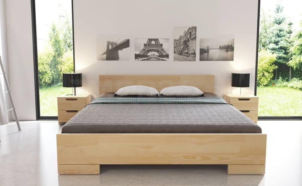 łóżko Drewniane Sosnowe Spectrum Maxi Long 90 200x220