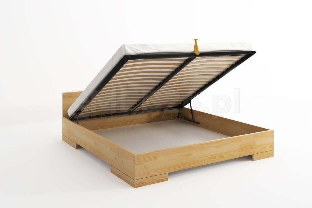 łóżko Drewniane Sosnowe Ze Skrzynią Na Pościel Spectrum Maxi Long St 90 200x220