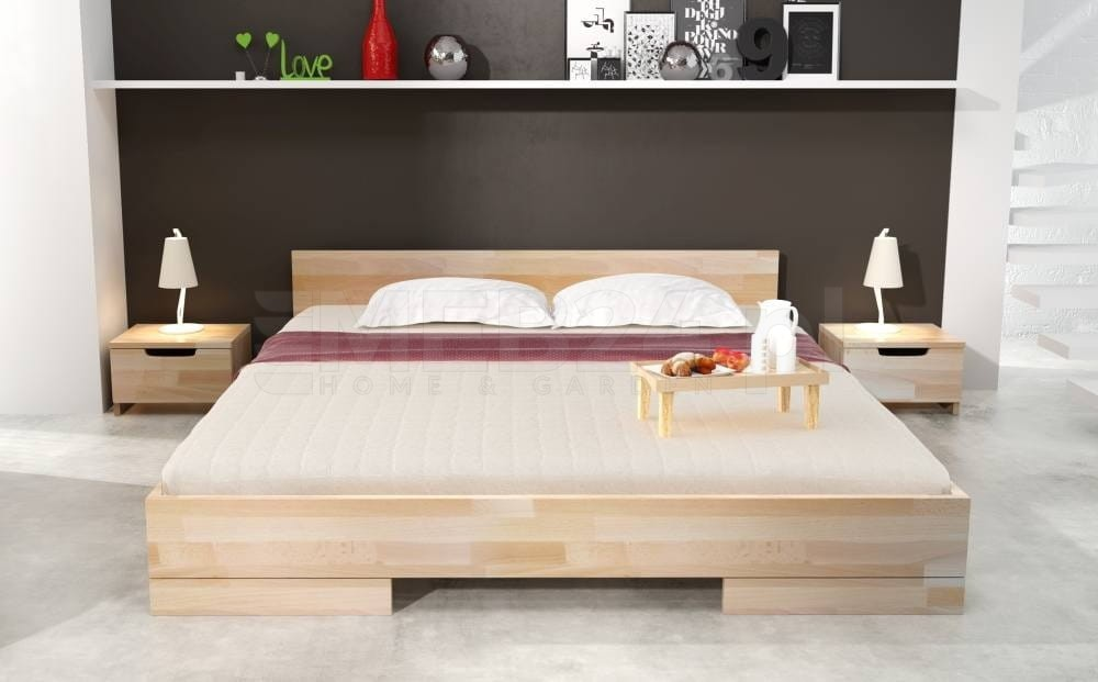 łóżko Drewniane Sosnowe Spectrum Long 90 200x220