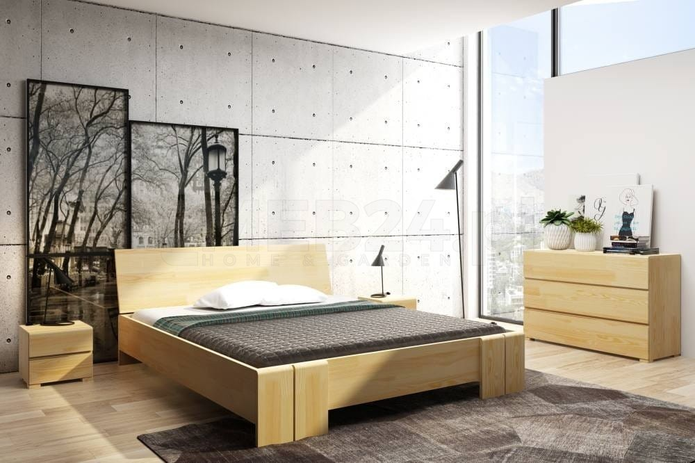 łóżko Drewniane Sosnowe Vestre Maxi Long 90 200x220