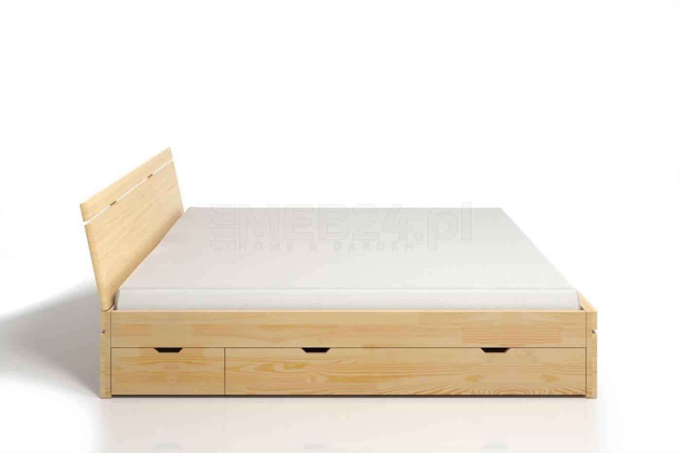 łóżko Drewniane Sosnowe Z Szufladami Skandica Sparta Maxi Dr 120 200x200