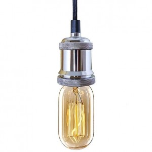 Lampa Industrial Chic Chrom Edison BF27